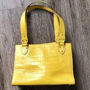 Kate spade yellow croc embossed bag